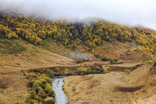 Харесское ущелье, река Урух, Северная Осетия