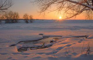 Мороз -10, но полыньи не замерзают