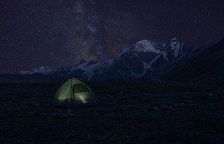 Ночной вид с южного приэльбрусья