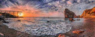 Утро на старом пляже