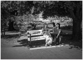 лето в городском сквере