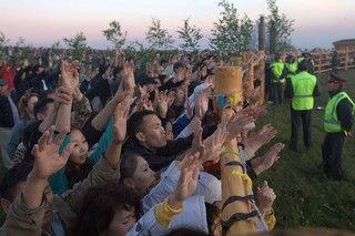 встреча солнца, праздник Ысыах в Якутии