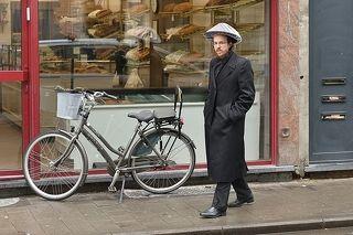 Jew in the rain.