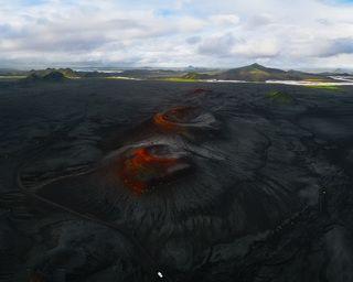 Вулканические кратеры парка Ландманналаугар