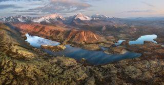 Ландшафт Колымы с высоты 500 метров.