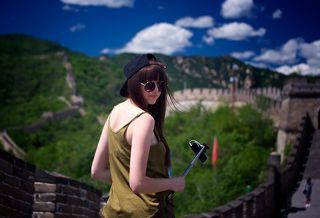 Украинская красавица на великой китайской стене