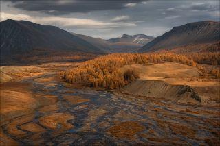 Долина реки Джазатор ( Жасатер ), по дороге в сторону одного из самых отдаленных районов Горного Алтая - села с \