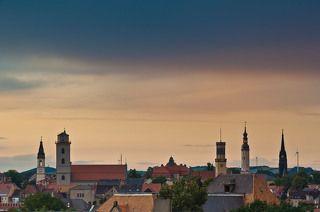 Мой родной город Циттау. Башни города.