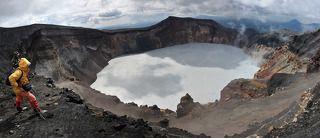 Панорама сделана с северного края кратера