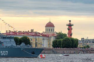 Корабли на стрелке Васильевского острова