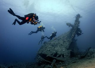 Затонувший корабль Dunraven
