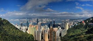 Вид на Гонконг с Пика Виктория (классический вид Гонконга)