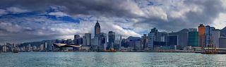 Вид на остров Гонконг с Аллеи Звезд