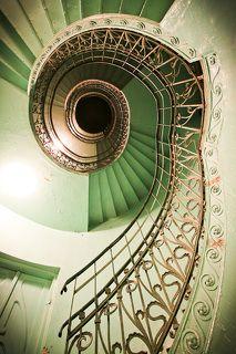 upstairs I