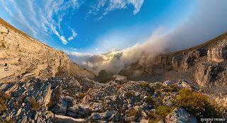 Закат на плато Кинжал