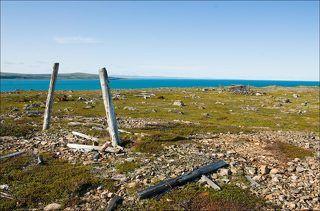 69,7 градусов с. ш., 32,5 в.д. - север Кольского полуострова. Полуостров Рыбачий.