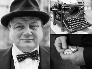 Imitation of Winston Churchill. London juni 2013.