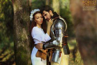 #Lovestory#man#woman#forest#knight
