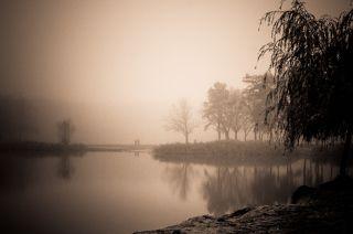 Дыша осенним туманом...