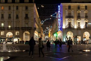 Улица Рима (via Roma), вид от рiazza Castello.