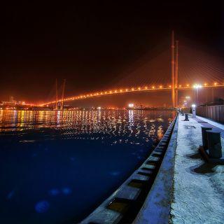 Мост через залив Золотой Рог. Набережная Цесаревича.
