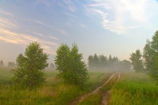 Встать в 4 утра и пойти любоваться туманами, восходом солнца... Слушать звуки природы... Может позволить себе лишь настоящий романтик. Как Вы думаете?