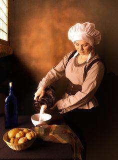 Молочница. По мотивам одноименной картины Яна Вермеера (1658)