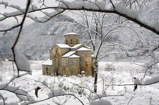 Зима в Архызе