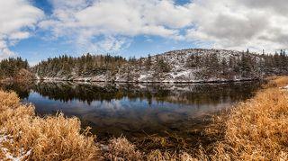 Озеро на горе Ольховой