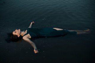 Девушка, портрет, на воде