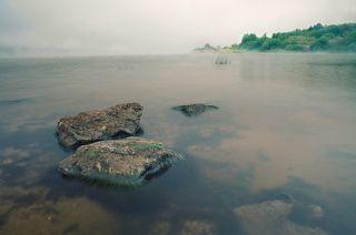 август. туман