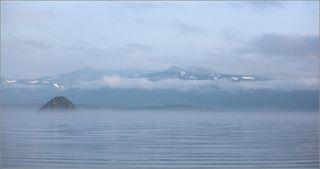 Когда-то давным-давно на Камчатке бабахнула большая гора. Сильно!  Говорят, что куски долетели до Новой Зеландии. А на месте горы осталась воронка, которая постепенно наполнилась водой. Так появилось озеро Курильское. Между прочим, второе по глубине после Байкала (глубже 300 м!). В озеро нашла дорогу нерка (лосось такой), а за неркой потянулись медведи. Ну, а за этими, понятное дело, - фотографы-натуралисты.