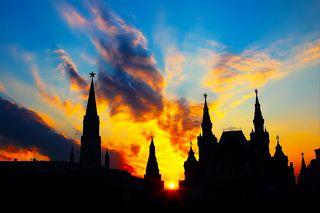 Московский Кремль в час заката