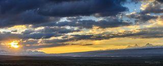 утро на плато Кагалачап, виден п. Данкова