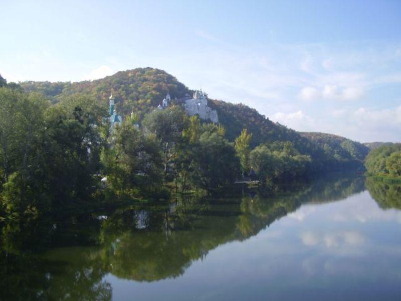 осень,река,монастырь Святые местаphoto preview