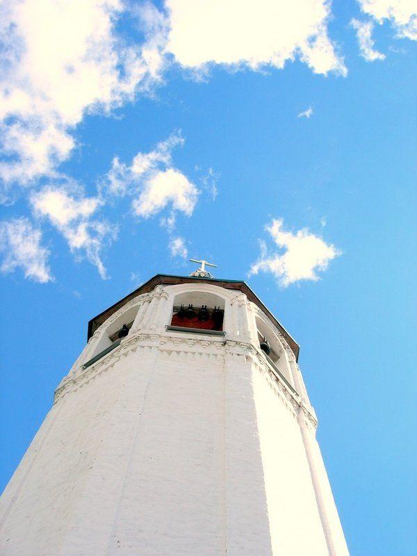 небо, колокольня, облака, божественность в небоphoto preview