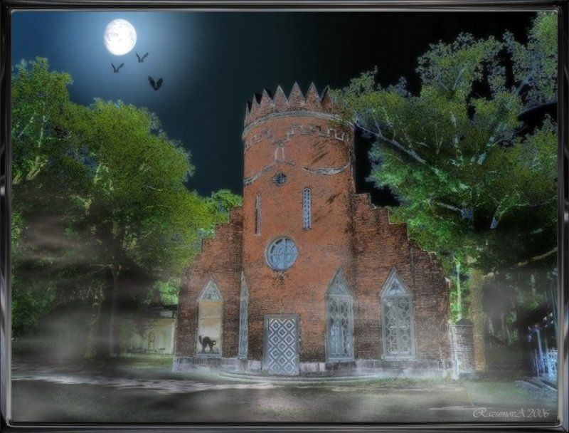 Замок полнолуние Полнолуниеphoto preview