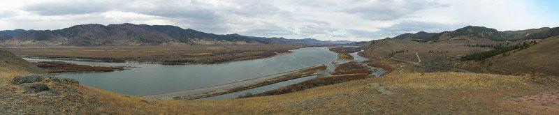Панорама, Селенга, Бурятия Осень в долине р.Селенгиphoto preview