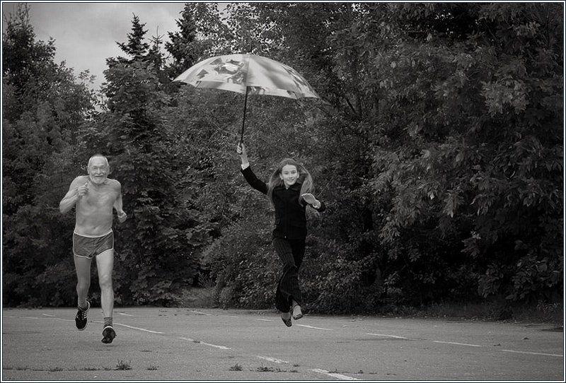 бег, лето, fuete, mju Время бежитphoto preview