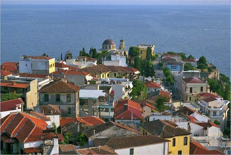 Греция, крыши Геометрия крышphoto preview