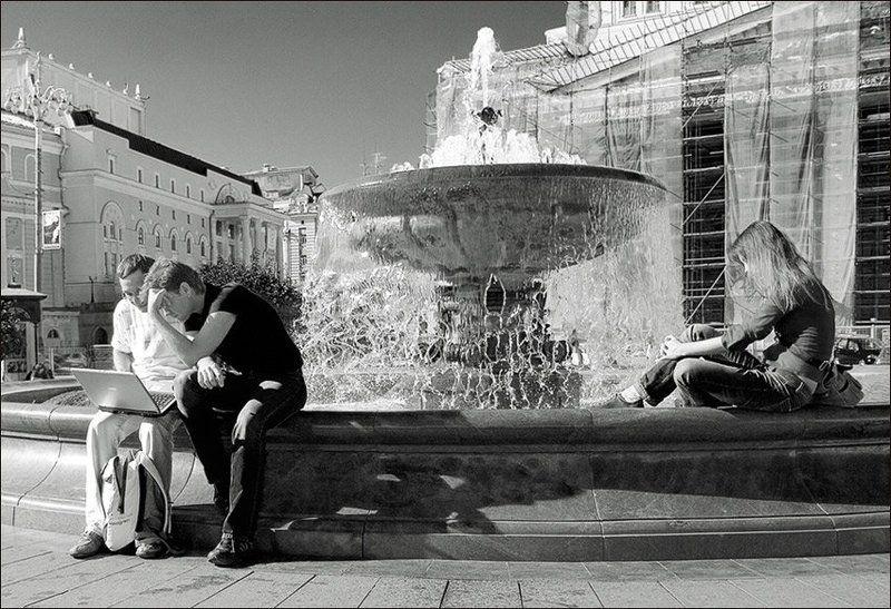 Москва, город, лето, фонтан, Большой Театр, mju Доминантная виртульностьphoto preview