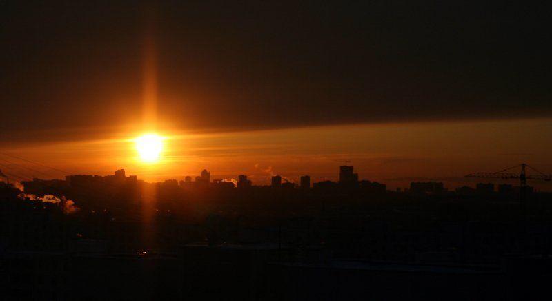 Закат большого города #2photo preview