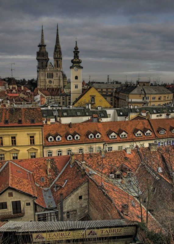 город, Загреб, путешествия Старый городphoto preview