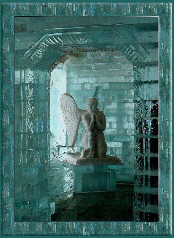 Ледяной, дворец, ангел Разнокрылый Ангелphoto preview