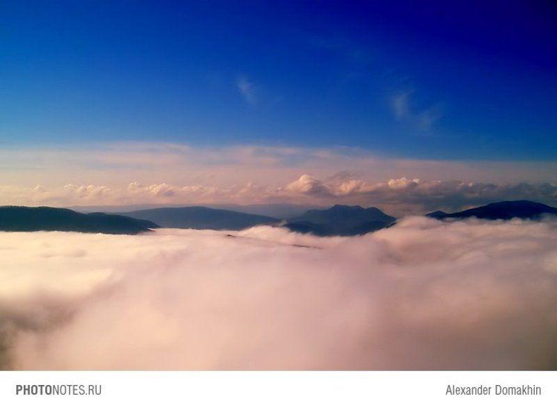 небо, горы, облака, Кубань, путешествия, PHOTONOTES.RU На седьмом небеphoto preview