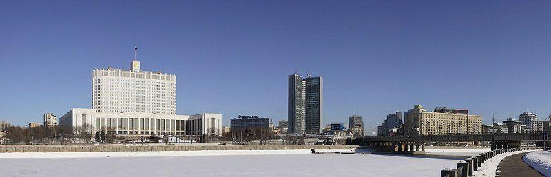 Панорама белый дом Москва река классика жанра ПВДphoto preview