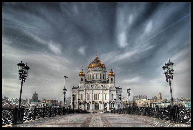 храм,христа,спасителя,патриарший,мост,фонари,хдр,hdr Храм Христа Спасителяphoto preview