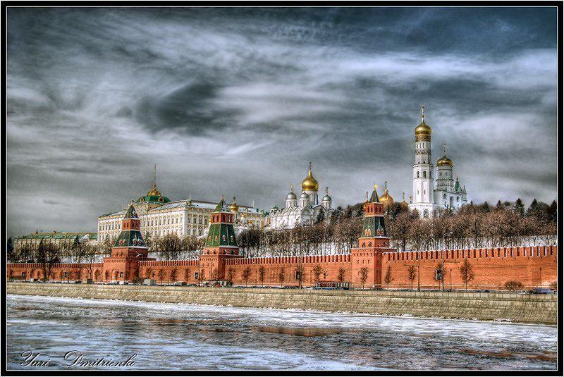 моква река кремль столица хдр moscow river hdr kremlin Пасмурное утро...photo preview