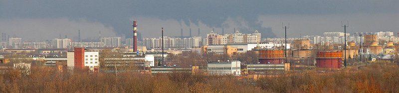 Панарама Москвы, вид из парка \