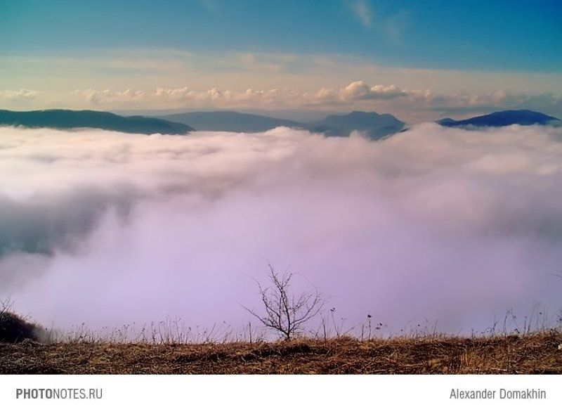 Кубань, пейзаж, горы, облака, Кавказ, путешествия, PHOTONOTES.RU На краю землиphoto preview